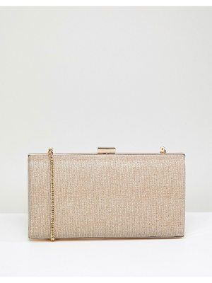 COAST Gold Glitter Box Clutch Bag