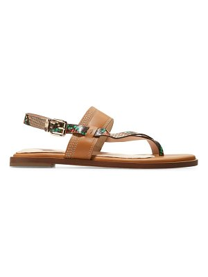 Cole Haan anica snakeskin-embossed leather slingback thong sandals
