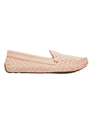 Cole Haan evelyn perforated suede loafers