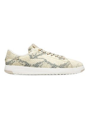 Cole Haan grandpro snakeskin-embossed leather tennis sneakers