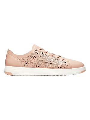 Cole Haan grandpro tennis laser cut leather sneakers