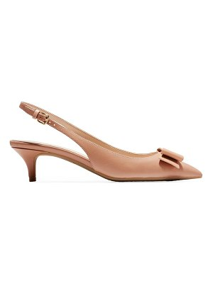 Cole Haan tali bow leather slingback pumps