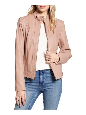 COLE HAAN SIGNATURE cole haan leather moto jacket