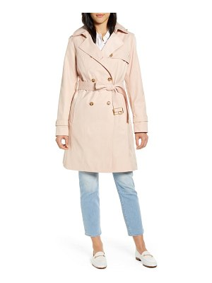 COLE HAAN SIGNATURE hooded trench coat