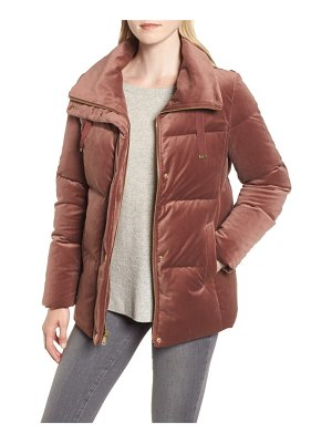 COLE HAAN SIGNATURE quilted velvet jacket