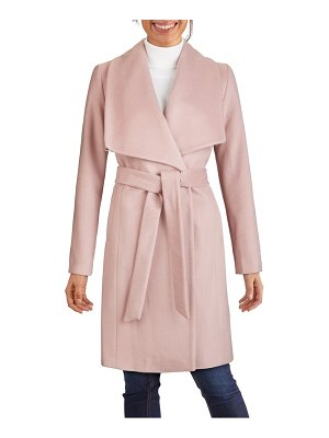 COLE HAAN SIGNATURE slick wool blend wrap coat