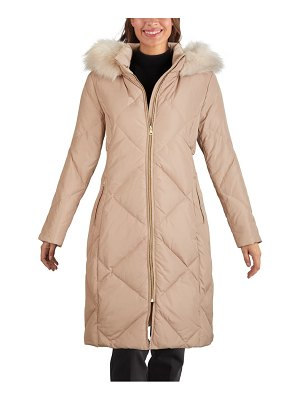 COLE HAAN SIGNATURE water resistant parka with faux fur trim