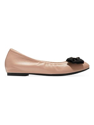 Cole Haan tali soft bow leather ballet flats