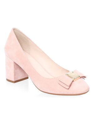 Cole Haan tali bow suede pumps
