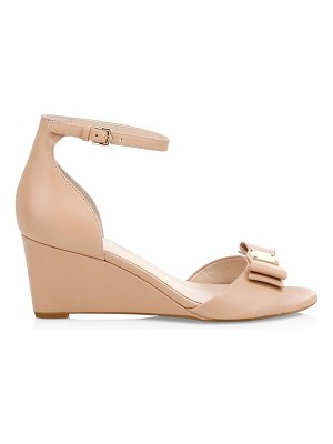 Cole Haan tali grand bow leather wedge sandals