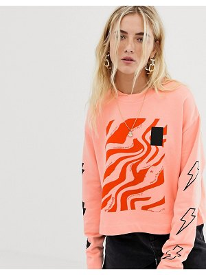 Collusion cropped graphic sweat
