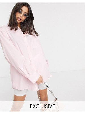 Collusion oversized shirt in pink