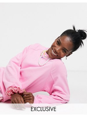 Collusion oversized sweat in pink