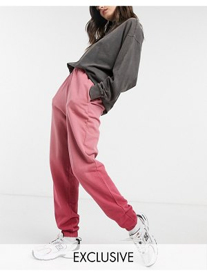 Collusion oversized sweatpants co-ord in pink ombre