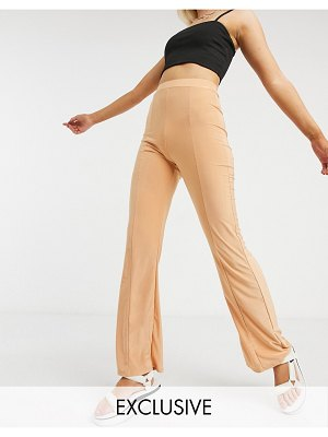 Collusion seam detail disco flares in blush-pink