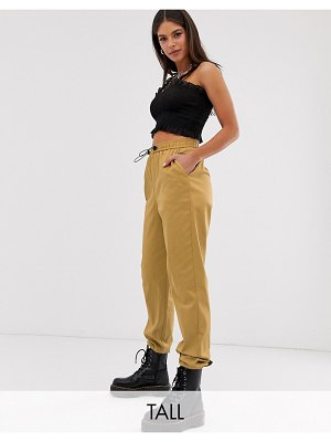 Collusion tall cuffed cargo pants-beige