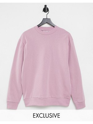Collusion unisex sweatshirt in pink
