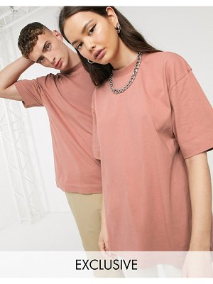 Collusion unisex t-shirt in brown