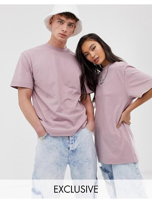 Collusion unisex t-shirt in dusky pink