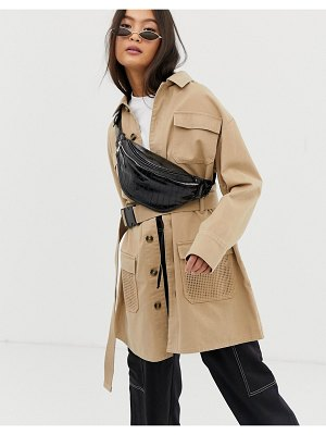 Collusion utility jacket with belt