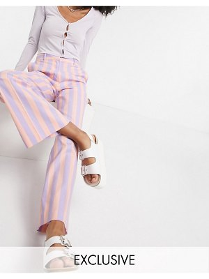 Collusion wide leg pink stripe pants