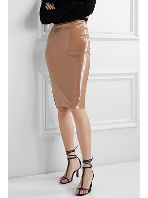 Commando faux stretch patent-leather skirt
