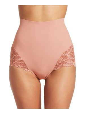 Commando high-waist lace trim shapewear brief