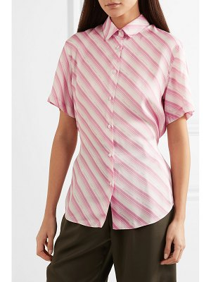 Commission banker striped twill shirt