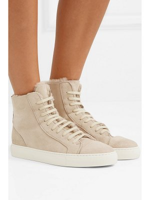 Common Projects tournament shearling high-top sneakers