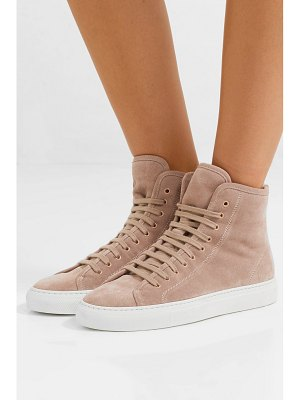 Common Projects tournament shearling-lined suede high-top sneakers