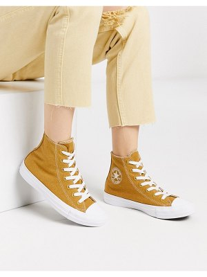 Converse chuck taylor all star hi renew natural sneakers-beige
