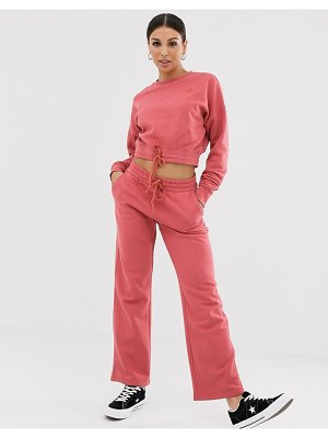 Converse dusty pink straight leg sweatpants
