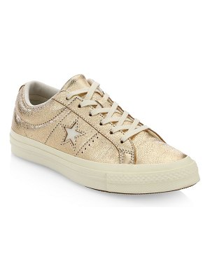 Converse one star ox leather sneakers