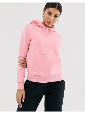 Converse pink star chevron embroidered pull over hoodie
