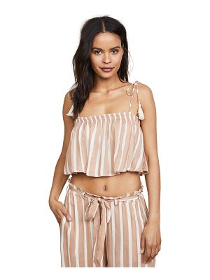 coolchange toiny stripe ella crop top
