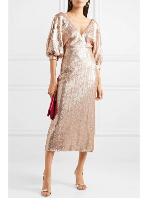 Costarellos sequined crepe dress