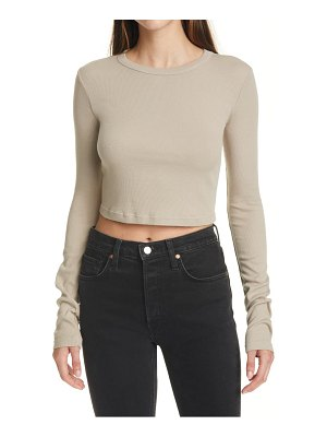 COTTON CITIZEN verona ribbed long sleeve crop top