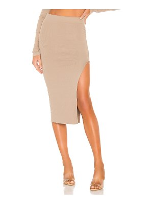 COTTON CITIZEN x revolve melbourne midi skirt with slit