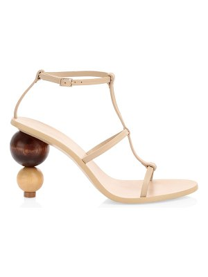 Cult Gaia eden bauble-heel leather sandals