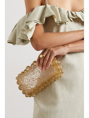 Cult Gaia eos beaded acrylic clutch