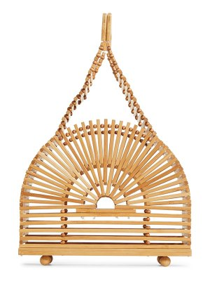Cult Gaia mini dome bamboo handbag