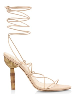 Cult Gaia soleil ankle-wrap leather sandals