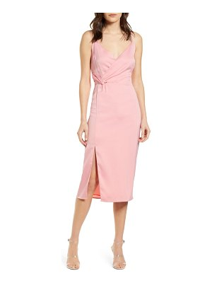 cupcakes and cashmere aquila faux wrap slipdress