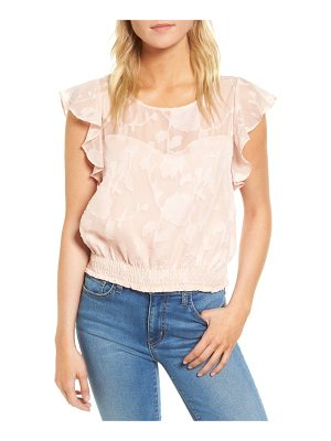 CUPCAKES AND CASHMERE Banyan Floral Burnout Top