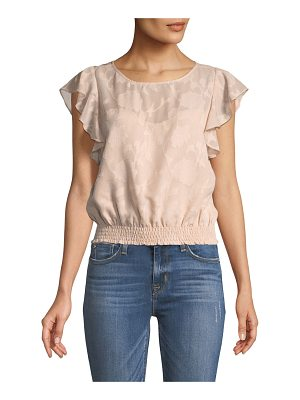 CUPCAKES AND CASHMERE Banyan Round-Neck Jacquard Top