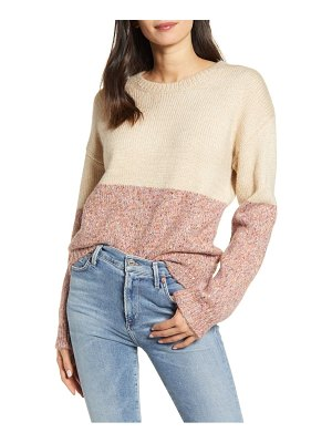 cupcakes and cashmere carmel colorblock sweater