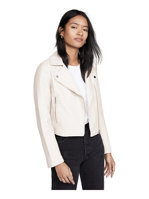 cupcakes and cashmere chandler faux leather moto jacket