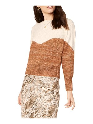 cupcakes and cashmere faith bicolor sweater