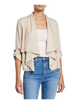 cupcakes and cashmere Impala Draped Roll-Sleeve Jacket