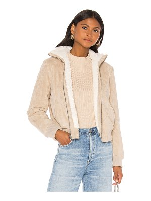 cupcakes and cashmere kendal reversible faux suede with sherpa flight jacket